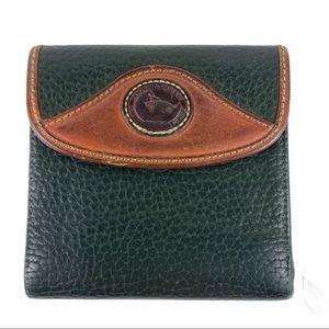 Dooney & Bourke Black Brown Leather Bifold Wallet